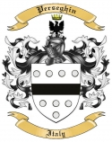 Perseghin Family Crest from Italy