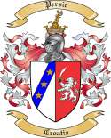 Persic Family Crest from Croatia