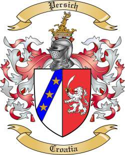 Persich Family Crest from Croatia
