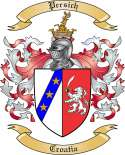 Persich Family Coat of Arms from Croatia
