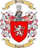 Persley Family Crest from England