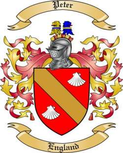 Peter Family Coat of Arms from England