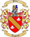 Peter Family Crest from England