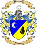 Petersen Family Crest from Norway