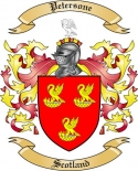 Petersone Family Coat of Arms from Scotland2