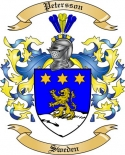 Petersson Family Crest from Sweden2