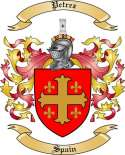 Petrez Family Crest from Spain2