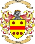 Petri Family Crest from Italy