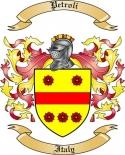 Petroli Family Crest from Italy