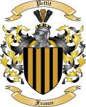 Pettit Family Crest from France