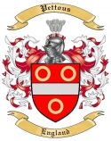 Pettous Family Crest from England