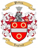Pettus Family Coat of Arms from England