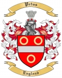 Petus Family Crest from England