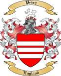 Pezey Family Crest from England