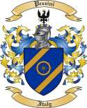 Pezzini Family Crest from Italy