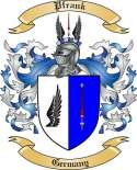 Pfrank Family Crest from Germany
