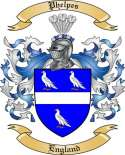 Phelpes Family Crest from England