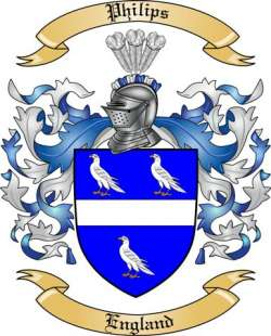 Philips Family Crest from England