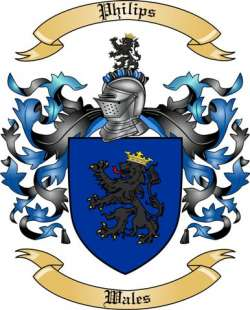 Philips Family Crest from Wales
