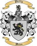 Phillip Family Crest from Wales2