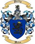 Phillip Family Crest from Wales