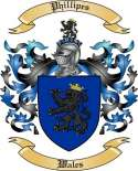 Phillipes Family Crest from Wales