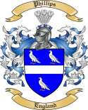 Phillips Family Coat of Arms from England