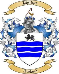 Phillips Family Crest From Ireland By The Tree Maker