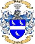 Phipps Family Crest from England