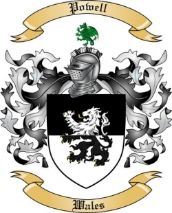 powell family crest from wales2 by the tree maker