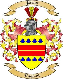 Prout Family Crest From England By The Tree Maker