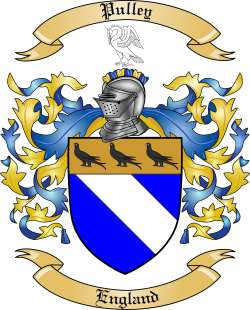 Pulley Family Crest From England By The Tree Maker
