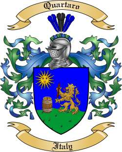 Quartaro Family Coat of Arms from Italy