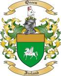 Queen Family Coat of Arms from Ireland