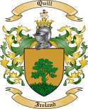 Quill Family Coat of Arms from Ireland