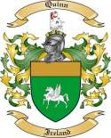 Quinn Family Crest from Ireland