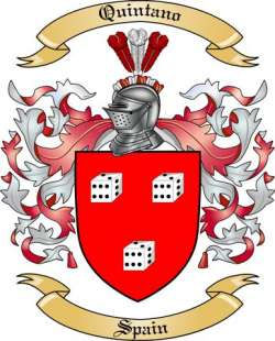 Quintano Family Crest from Spain