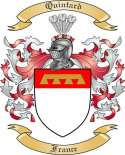 Quintard Family Coat of Arms from France