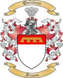 Quintens Family Coat of Arms from France