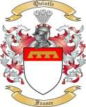 Quintle Family Crest from France
