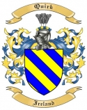 Quirk Family Crest from Ireland