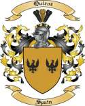 Quiroz Family Crest from Spain