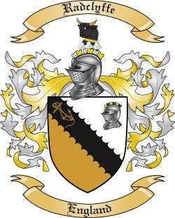 radclyffe family crest from england by the tree maker
