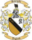 Radclyffe Family Coat of Arms from England