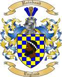 Rainbaud Family Coat of Arms from England