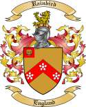 Rainbird Family Crest from England