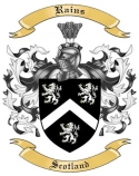 Rains Family Crest from Scotland