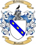 Ralstoun Family Crest from Scotland