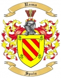 Rama Family Crest from Spain