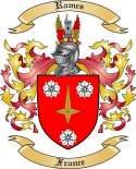 Rames Family Crest from France